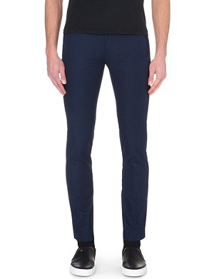 SANDRO Slim tapered cotton trousers