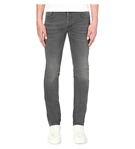 SANDRO 5 Pocket slim-fit tapered jeans (Grey
