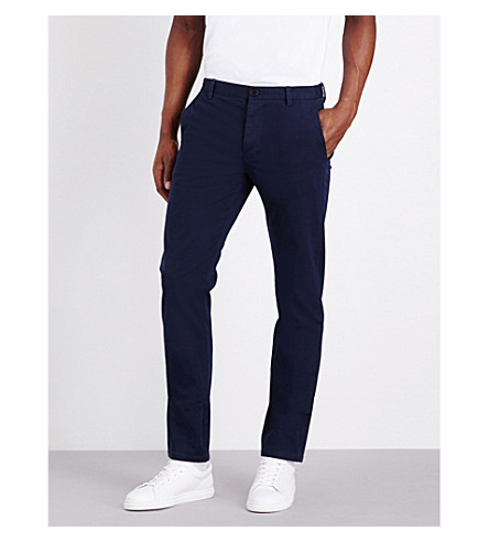 SANDRO Slim-fit stretch-cotton chinos (Blue