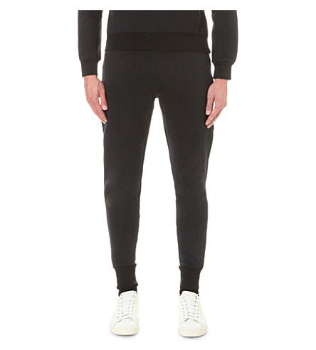 SANDRO Stretch-cotton jogging bottoms (Black