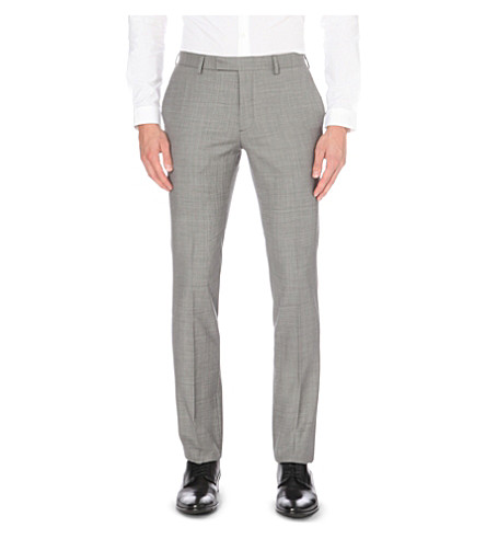 SANDRO Slim-fit tapered wool trousers (Gris