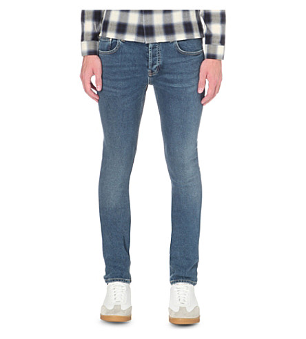 SANDRO Skinny slim-fit jeans (Blue+vintage+-+denim