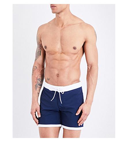 SANDRO Contrast-hem swim shorts (Blue
