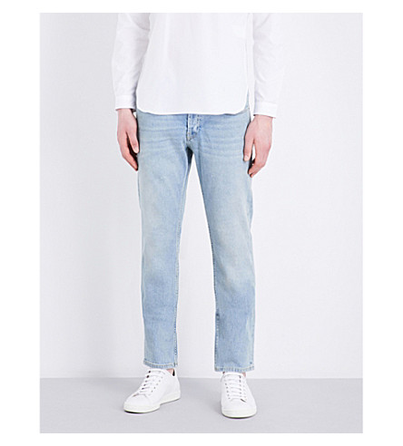 SANDRO Regular-fit tapered stretch-denim jeans (Blue+vintage