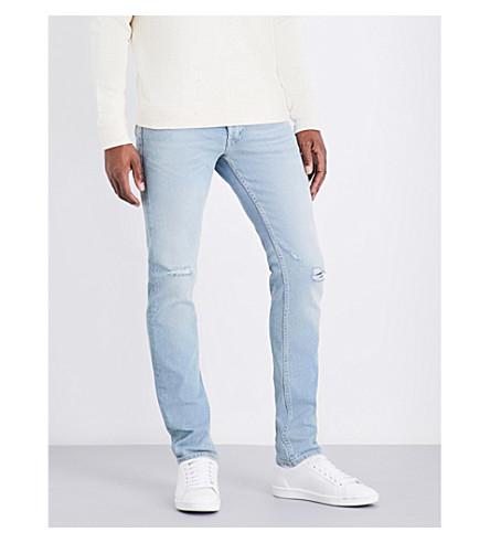 SANDRO Distressed slim-fit skinny jeans (Blue+vintage