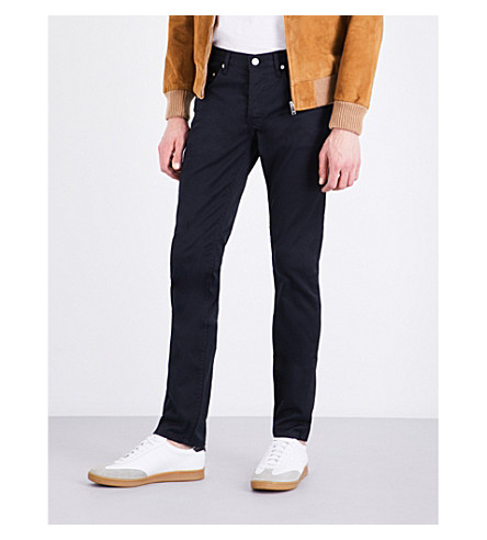 SANDRO Tapered stretch-denim jeans (Navy+blue