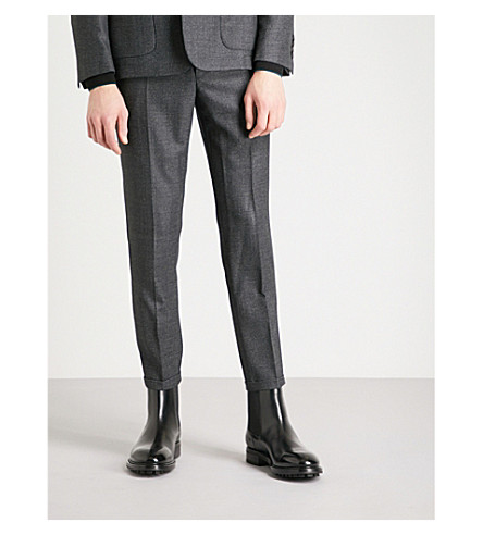 SANDRO Tapered wool trousers (Grey
