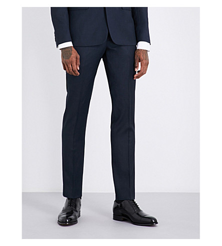 SANDRO Slim-fit wool trousers (Blue