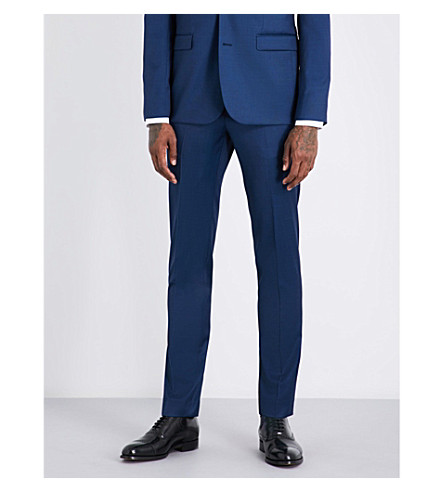 SANDRO Slim-fit wool trousers (Indigo