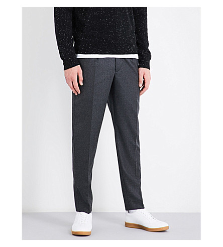 SANDRO Slim-fit wool trousers (Grey