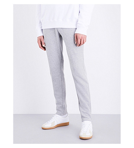 SANDRO Relaxed-fit jersey jogging bottoms (Grey