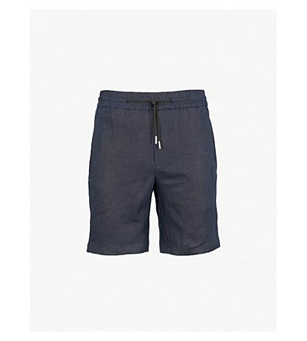 SANDRO Drawstring-waist linen shorts (Marine