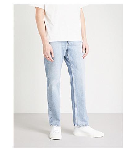 SANDRO Regular-fit faded stretch-denim jeans (Light+blue