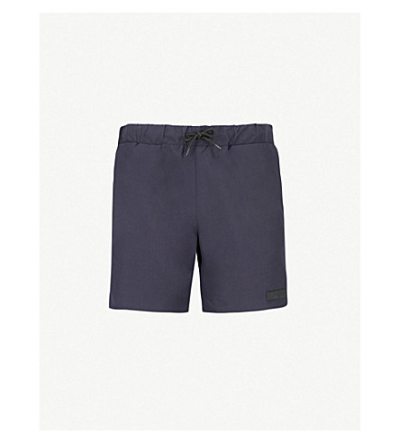 SANDRO Logo patch swim shorts (Marine