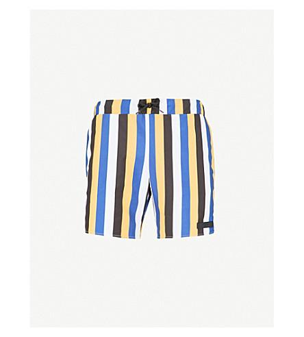 SANDRO Striped swim shorts (Yellow