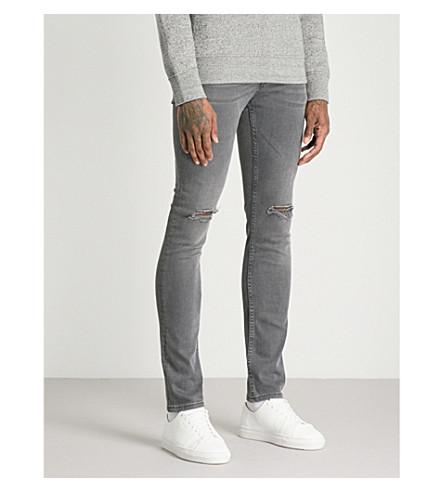 SANDRO Distressed slim-fit skinny jeans (Gris