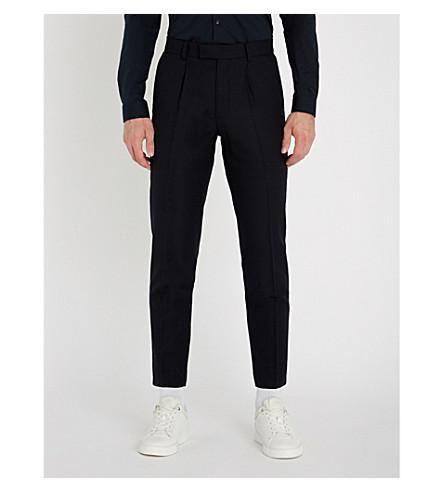 SANDRO 木星常规版型羊毛裤子 (海洋