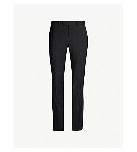 SANDRO 修身版型羊毛直腿裤子 (炭 + 灰