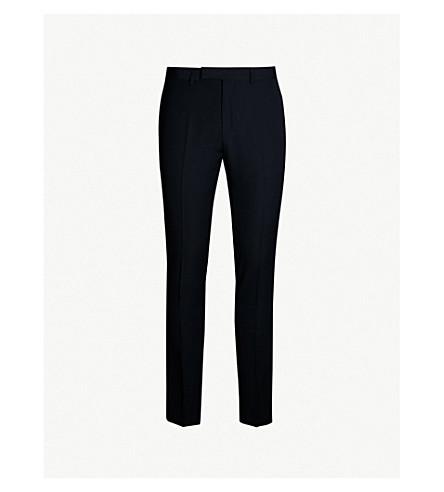 SANDRO 高腰羊毛裤子 (海军 + 蓝色