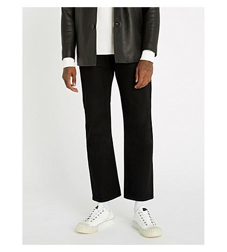 SANDRO 常规版型直牛仔牛仔裤 (黑色