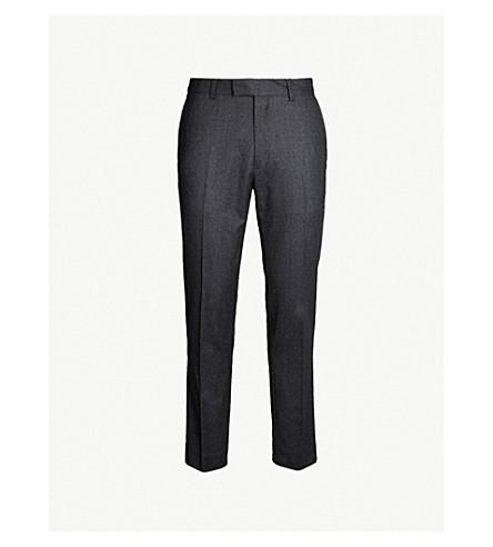 SANDRO 木星中腰修身版型羊毛裤子 (无烟煤
