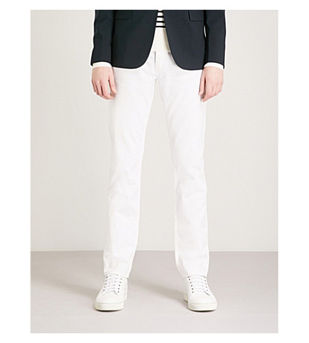 SANDRO Slim-fit straight-leg jeans (White