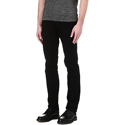 SANDRO Straight-leg regular jeans (Black