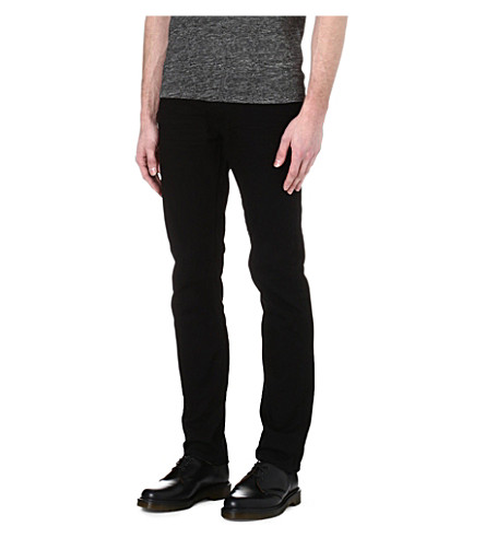 SANDRO Tapered slim mid-rise jeans (Black