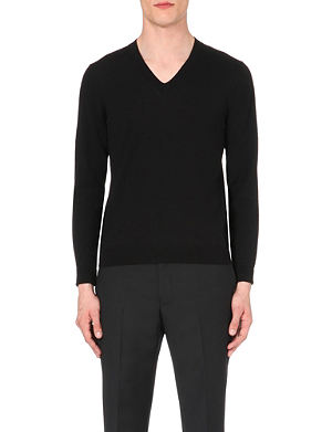 SANDRO V-neck wool jumper