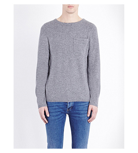 SANDRO Crewneck cashmere sweater (Mocked+grey