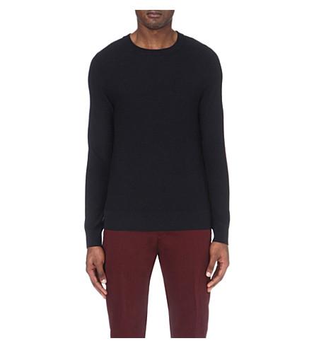SANDRO Crewneck knitted jumper (Marine