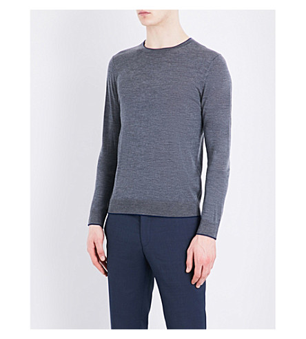 SANDRO Crewneck knitted sweater (Mocked+grey