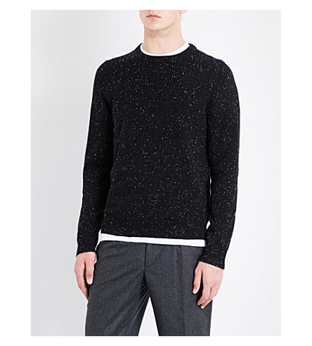SANDRO Flecked cashmere jumper (Black