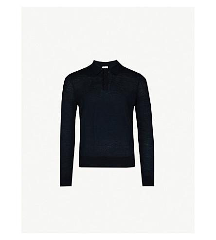 SANDRO Fine-knit wool jumper (Marine