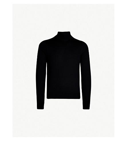 SANDRO 高领羊毛毛衣 (黑色
