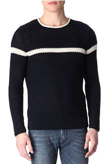 SANDRO Fishnet knitted jumper