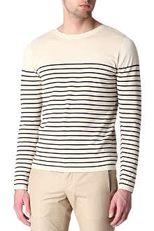 SANDRO Storm striped jumper
