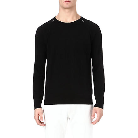 SANDRO Zip-detailed jumper (Black