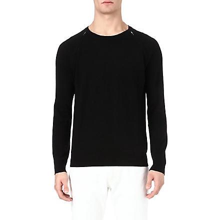 SANDRO Zip-detailed jumper (Black