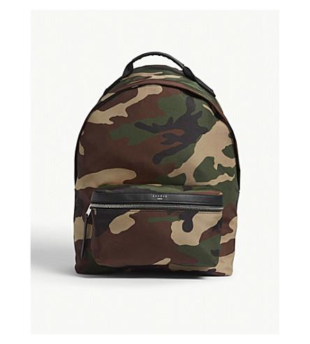 SANDRO Camouflage nylon backpack (Camouflage