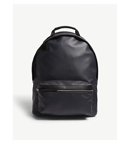 SANDRO leather SANDRO Marine backpack Grained Grained ZwOqPZ