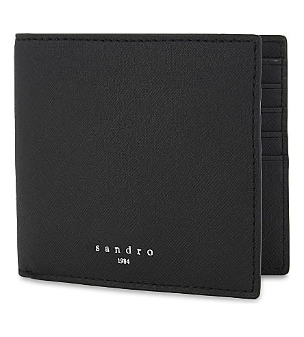SANDRO Leather wallet (Black