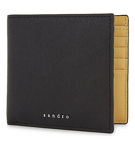 SANDRO H17 Saffiano leather wallet (Black