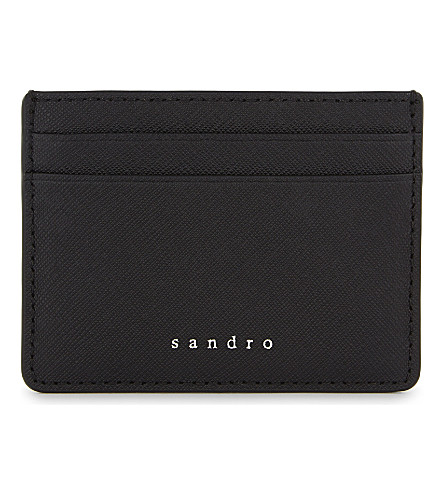 SANDRO H17 leather card holder (Black