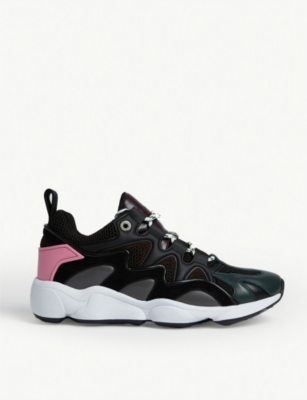 Atomic leather and mesh trainers(8122007)