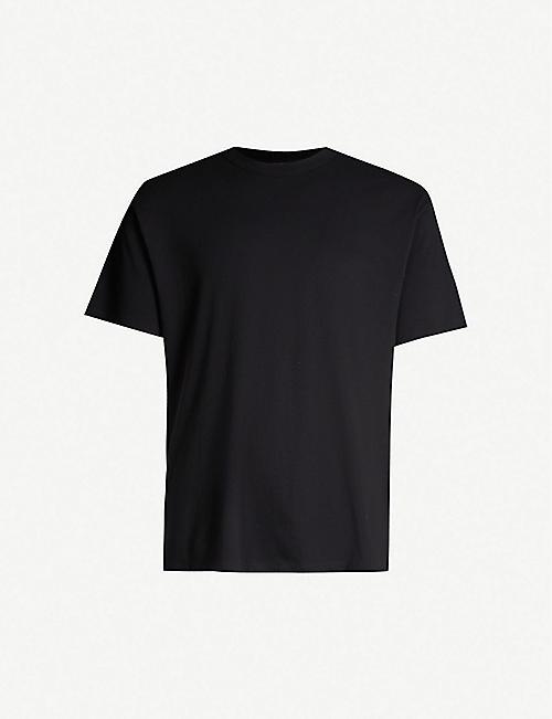 SANDRO 管状普通棉质球衣 T 恤