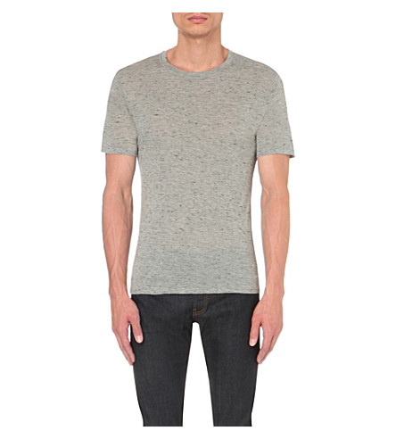 SANDRO Crew-neck jersey t-shirt (Grey