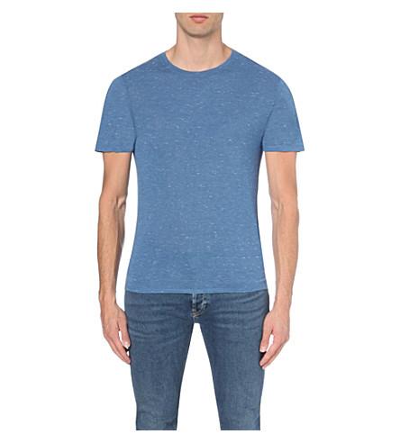 SANDRO Crew-neck jersey t-shirt (Light+blue