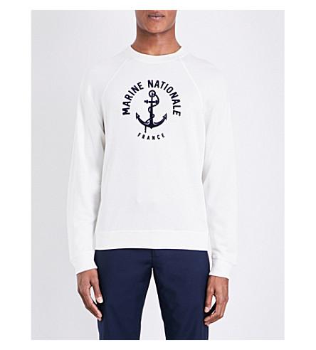 SANDRO Marine-print crewneck jumper (White