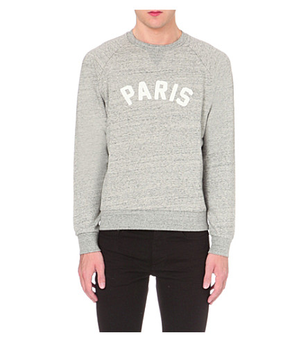 SANDRO Paris cotton-jersey sweatshirt (Grey